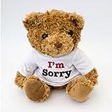 NEU - I'M SORRY - Braun Teddybär - Niedlich Weich Kuschelig - Geschenk Es Tut Mer Leid Entschuldigung