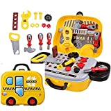 Samaira Toys Pretend Play Set Pretend PlaySet, Little Engineer Pretend Toolbox Construction Tools, Role Play Engineer Workshop Tool Kit For Kids (Colors May Vary)