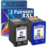 PlatinumSerie - Juego de 2 cartuchos de tinta para HP 56 XL HP 57 XL PSC 1210 1315XI 1317 1340 1345 1350 1350V 1350XI
