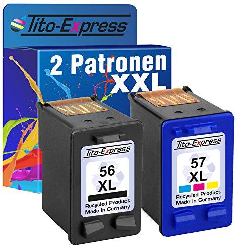 mSerie Farbset 2X Tinten-Patrone für HP 56 XL HP 57 XL OfficeJet 5500 5610 5610V 5610XI 5615 5110 6110XI 6150 J5520 ()