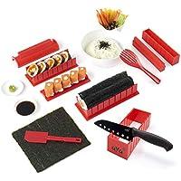Kit para Hacer Sushi - Equipo para Hacer Sushi Edición de Lujo de AYA con Cuchillo de Sushi y Tutoriales en Video Online - Set de Sushi de 11 Piezas - Fácil y divertido - Rollitos de Maki.
