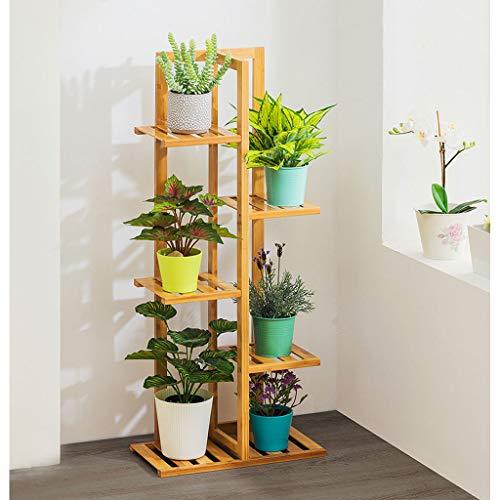Leiter Pflanzenstandplatz Outdoor Indoor Blume Rack Stand Display Regal 5 Tier Pflanzenregale, BüCherregal Ecke Regal (45 * 22 * 103 cm) -
