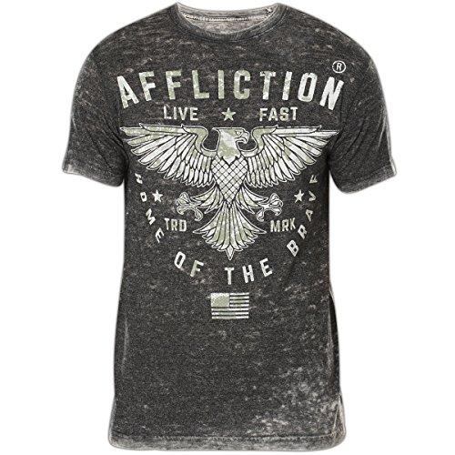 Affliction T-Shirt Standard Athletics Grau, L - Affliction T-shirt Aus Baumwolle