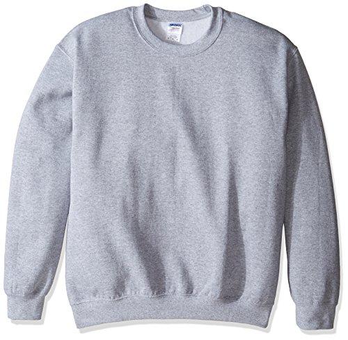 Gildan Herren Crewneck Sweatshirt Hemd, Grau-Sport Grey, Groß - Gildan Crewneck Sweatshirt