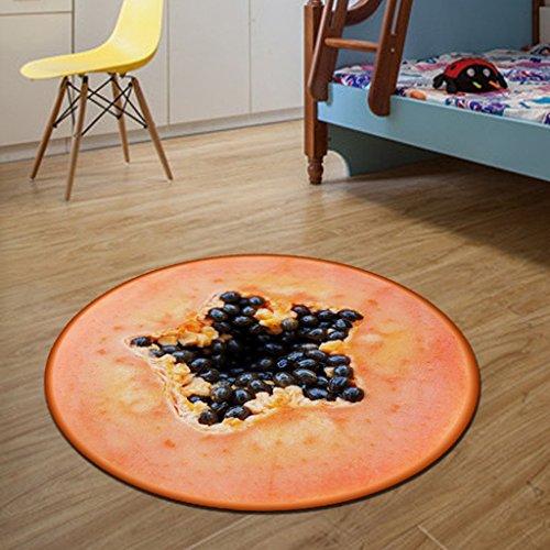 &tapis de salon 3D Fruits Ronde Tapis Diamètre 60/80/100/120 / CM Imprimer Salon Salon Tapis de Cuisine Tapis de Bain Enfants Enfants Chambre Tapis couvertures (Couleur : F, taille : 100 * 100cm)