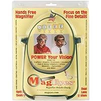 MagEyes Magnifier-Lenses #5 (2.25X) & #7 (2.75X)-Dk Green