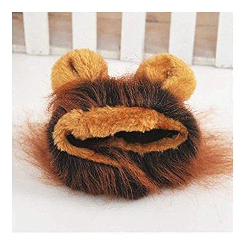 enkostüm Hunde Haustier Löwenkostüm Kleidung, Haustier Kostüme Kleidung Katze lustiges Hunde Katze Halloween Karneval Cosplay (Schwarz + Rot) ()