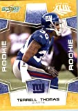 2008 Score SuperBowl Or Parallel Édition Football Card-(limitée à 800) 379 Made #Terrell Thomas (RC-Rookie Card) CB-New York Giants/en protection vissée vitrine