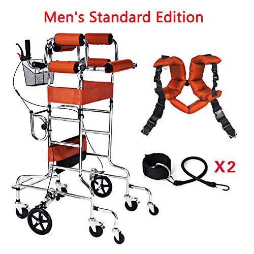 TXDWYF Drive Medical Gehhilfe/Gehwagen für Senioren/Rollator aus Gehhilfe/Mit Gepolstertem Sitz und Ergonomischen Handgriffen,Men,withouttoilet