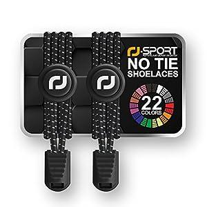 RJ-Sport Elastische Schnürsenkel mit Schnellverschluss – Schnellschnürsystem für einzigartigen Komfort, perfekten Sitz und starken Halt – 1 Paar