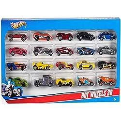 Hot Wheels Mattel H7045 20 er Pack, Geschenkset, zufallige Autos/Modelle