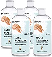 Kuber Industries Aloevera Gel Hand Sanitizer 70% Isopropyl Alcohol Based Gel Instant Germ Protection (Set Of-4