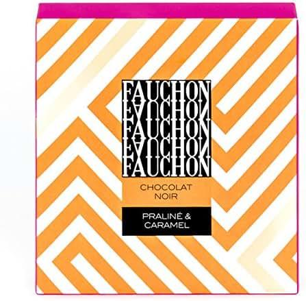 Fauchon - Chocolat noir fourré praliné et caramel