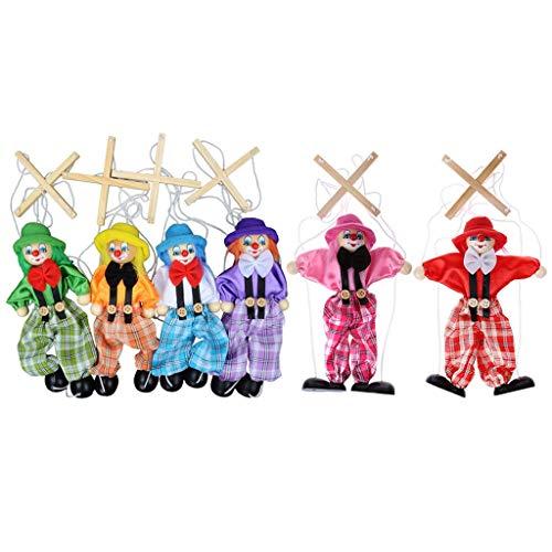 Ogquaton 1 Pieza Pull String Puppet Marioneta Madera