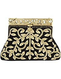 Purse Collection Black Handmade Clutch With Embroidery Work Purses For Women's …