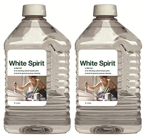 2x AQS White Spirit Used Paint Linseed Oil, Thinning & Brush