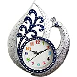 Majik Peacock Wall Watch Clock Designer For Bedroom | Designer Wall Clocks For Living Room Modern | Home Clock Wall