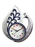 #10: Antique Clock With Peacock Design And White Stone / Clocks For Wall Stylish For Living Room (Blue)