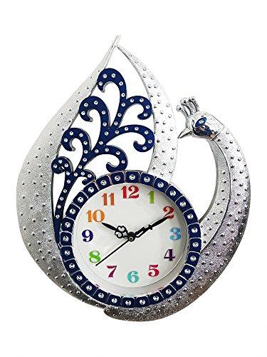 Majik Peacock Wall Watch Clock Designer For Bedroom | Designer Wall Clocks For Living Room Modern | Home Clock Wall
