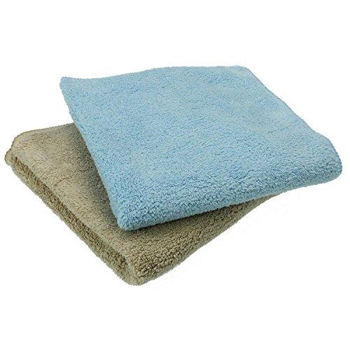 Sanixa K&G GP02710 2er Set hochwertige Microfaser-Staubtücher. Reinigungs-Tuch für empfindliche Oberflächen | Streifenfreie Reinigung | Waschbar | Putz-Tuch