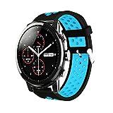 Saisiyiky Correa de Reloj Xiaomi Huami Amazfit,22mm de Silicona Ajuste rápido Pulsera de Repuesto para Pulsera Deportiva Smart Watch (Azul)