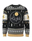 Harry Potter Christmas Jumper Ugly Sweater Hogwarts Castle Candles LED Light Up for Men Women Boys and Girls, Mehrfarbig, Gr. S