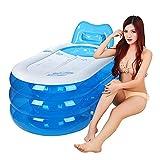 LybCvad Aufgefüllte faltbare Badewanne aufblasbare Badewanne Plastikbadewanne barrel barrel Erwachsene Wanne Kinderbadewanne Badewanne erwachsene Blau groß
