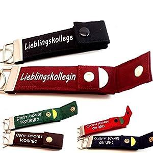 1 Stück | Schlüsselanhänger mit Chip: Geschenk für Kollege Kollegin Schlüsselband PERSONALISIERT