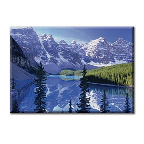 Leinwand digital druck Rahmen Malerei Landschaft Nationalpark Alberta Kanada Berge 100x70 cm