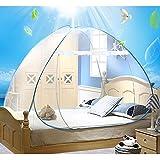 Moskitonetz, tragbarer, faltbarer Outdoor-Reise Camping Bett vollständig geschlossener freistehend Pop Up Netz Zelt (150 x 200cm)