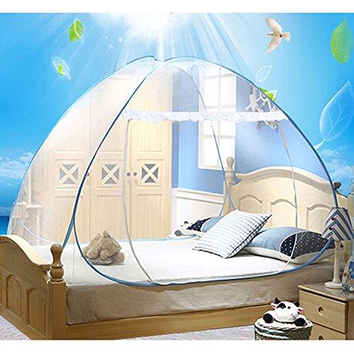 Outdoor oder Indoor Mosquito Net Kashang Mongolian Popup Dome Zelt Design Weiß Freie Installation und Falten Netz, geeignet für Erwachsene, Kinder, Babys, Reisende, Wanderer und Campers, schützen gegen Zika, Malaria und viele andere Viren. (180 x 200 x 150cm)