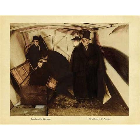 El gabinete del Dr, Caligari Póster de película media hoja 22 x 28 - 56 cm x 72 cm en Conrad Veidt Werner Krauss Lil Dagover Hans von Twardowski Rudolf Klein-ROGGE Friedrich Feher