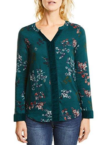 Grün Floral Bluse (CECIL Damen Bluse 340683, Grün (Emerald Green 31023), Large)