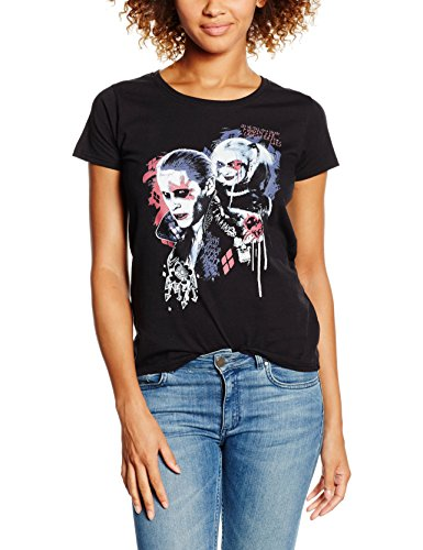 DC Comics Suicide Squad Harleys Puddin, Camiseta para Mujer