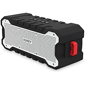 AUKEY Altoparlante Bluetooth Esterno con 24 ore Playtime, Portatile e Protetto da Spruzzi di Acqua, Bassi Migliorati, Cassa Wireless per iPhone, iPad, Samsung e altri Dispositivi (SK-M12)