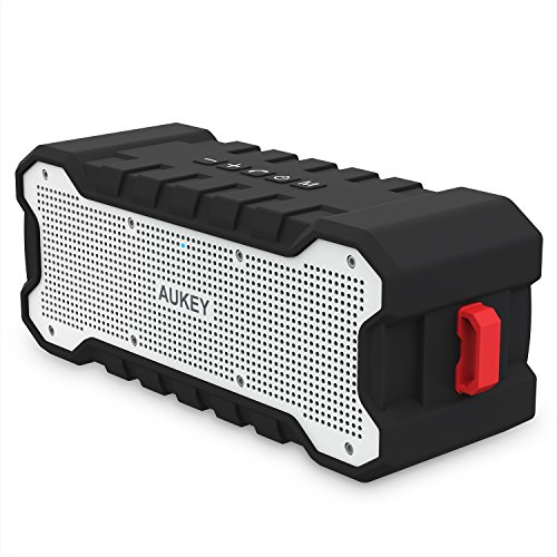 AUKEY Altoparlante Bluetooth 4.1, 10W Speaker Portatile, Fino a 30 ore Playtime, e Protetto da Spruzzi di Acqua, Subwoofer e Microfono Incorporato,Compatibile per iPhone, Samsung e altri Dispositivi (SK-M12)