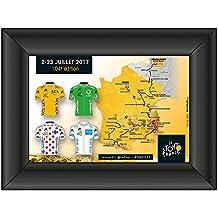 Tour de France 2017 - Pinkollektion Trikots eingerahmt