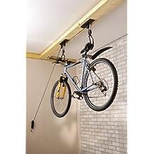 Mottez - Elevador de bicicletas, color negro
