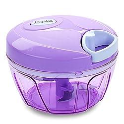 Smile Mom Chopper Vegetable Cutter for Onion, Tomato, Ginger, Garlic, Salad etc Best Kitchen Manual Food Processor (400 ML)