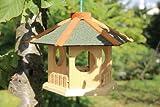 Kleines Vogelhaus zum hängen 6-eckig grün