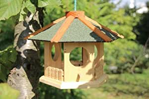 kleines vogelhaus zum h ngen 6 eckig gr n haustier. Black Bedroom Furniture Sets. Home Design Ideas