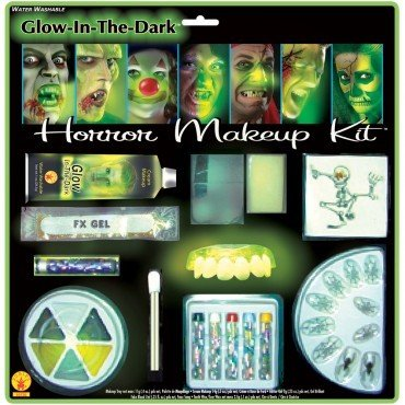 Wanna Party Halloween Glow in The Dark Deluxe Horror Make Up Kit