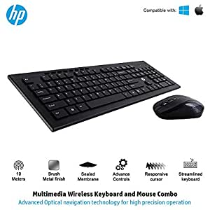 buy hp multimedia slim wireless keyboard mouse combo 4sc12pa online at low prices. Black Bedroom Furniture Sets. Home Design Ideas