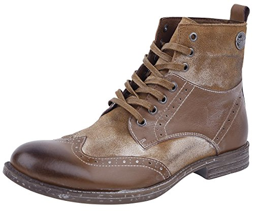 Rock Rebel by EMP Vintage Lace-Up Boots Anfibi/Stivali marrone EU47