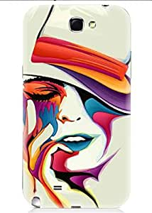 Spygen Premium Quality Designer Printed 3D Lightweight Slim Matte Finish Hard Case Back Cover For Samsung Galaxy Note 2 (N7100)