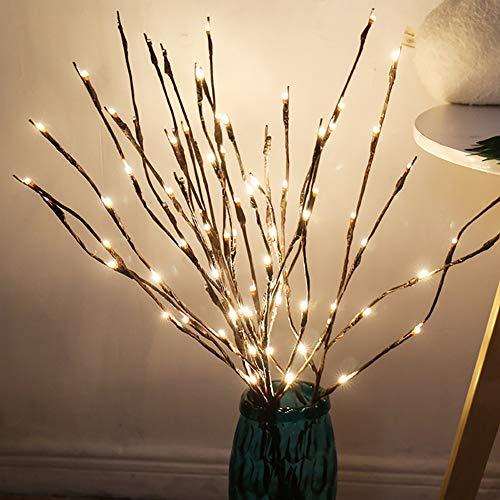 CTlite Zweige Lichter, 3 Stück, batteriebetrieben, dekorative Blumenbeleuchtung, hohe Vase mit Weidenzweigen, beleuchtete Zweige für Zuhause Dekoration Pack of 1