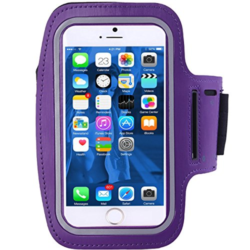 Cell-Phone-Armband, ibarbe bis 5,5inch-Case für iPhone-7-6-6s-se, 5, 5C, 5S, und sansung-galaxy-s5- Google-Pixel-Adjustable-Velcro-Workout-Band, Key-Holder-Built in-Screen-Protector (Schwarz) (Unlocked I Phone 5s 32gb)