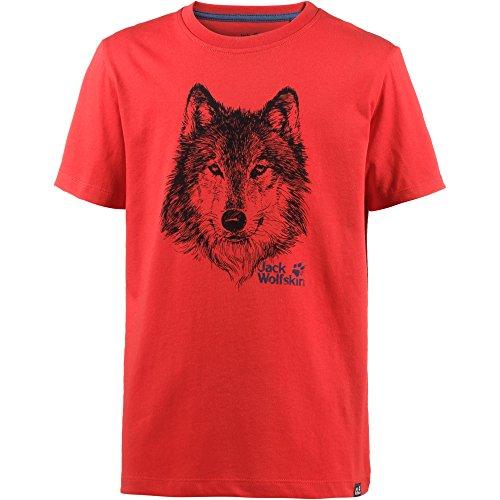 Jack Wolfskin Marke T Jungen, Jungen, 1607241, Peak Red, 140 (9-10 Years Old)