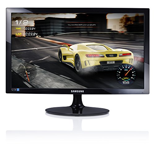 Samsung LS24D330HSU/EN Monitor 24'' Full HD TN, 1920 x 1080, 1 ms, 60 Hz, Game Mode, D-sub, Cavo HDMI Incluso, Nero [Versione Italiana]