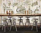 Fototapete Tapeten Bilder Leinwände Wand Bildbenutzerdefinierte Wallpaper Mural Schöne Europa Und American Style Handbemalte Tee Bar Coffee Shop Tapete Wandmalerei, 250 * 175 Cm